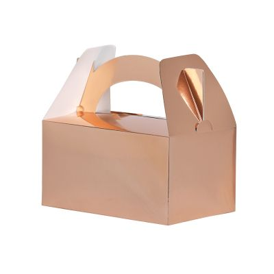 Lunch Box/Treat Box Metallic Rose Gold 5pk