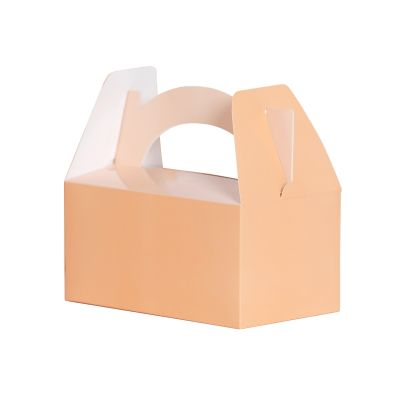 Lunch Box/Treat Box Pastel Peach 5pk