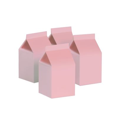 Milk Box/Party Favour Box Classic Pastel Pink 10pk