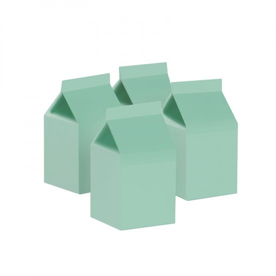 Milk Box/Party Favour Box Pastel Mint 10pk