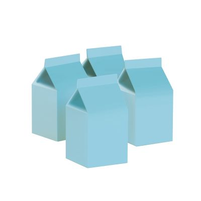 Milk Box/Party Favour Box Classic Pastel Blue 10pk