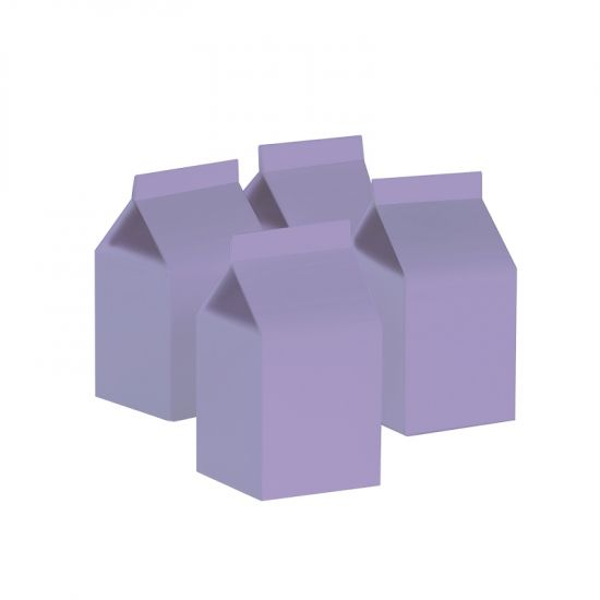 Milk Box/Party Favour Box Classic Pastel Lilac 10pk
