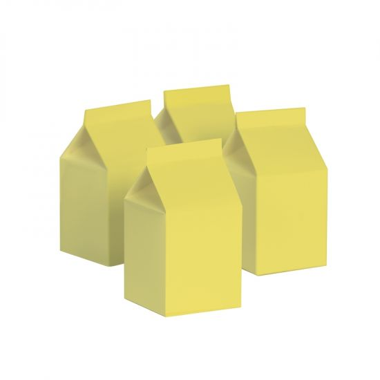 Milk Box/Party Favour Box Classic Pastel Yellow 10pk