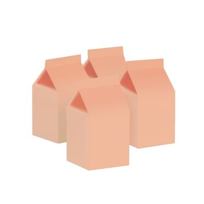 Milk Box/Party Favour Box Classic Pastel Peach 10pk