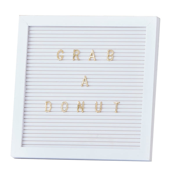 White + Gold 'Write Your Own Message' Letter Board