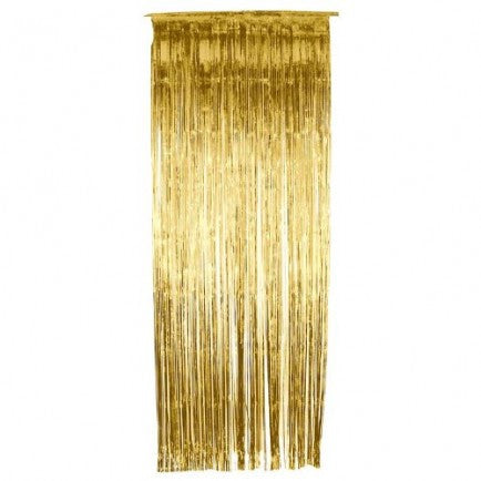 Gold Fringe Curtain Backdrop