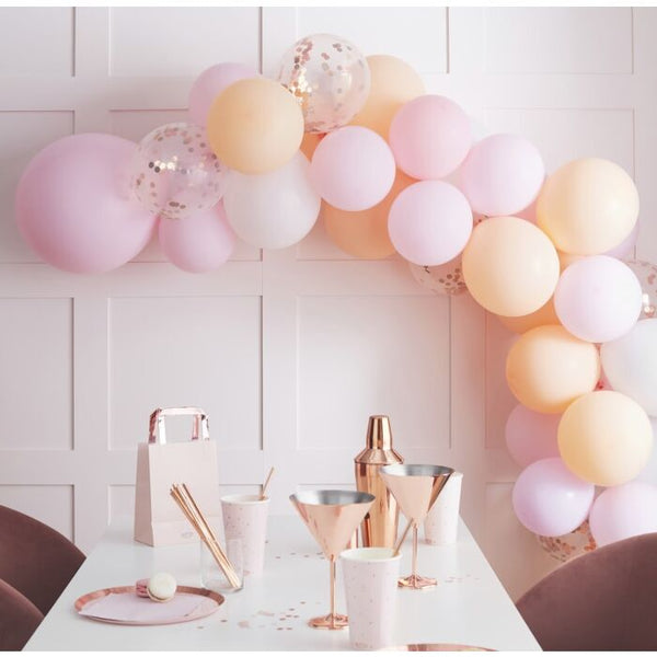 Matte Peach and Pink Balloon Arch Garland
