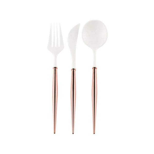 Bella Reusable Cutlery 24 pce - Rose Gold