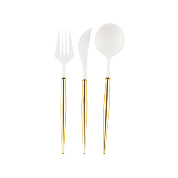 Bella Reusable Cutlery 24 pce - Gold