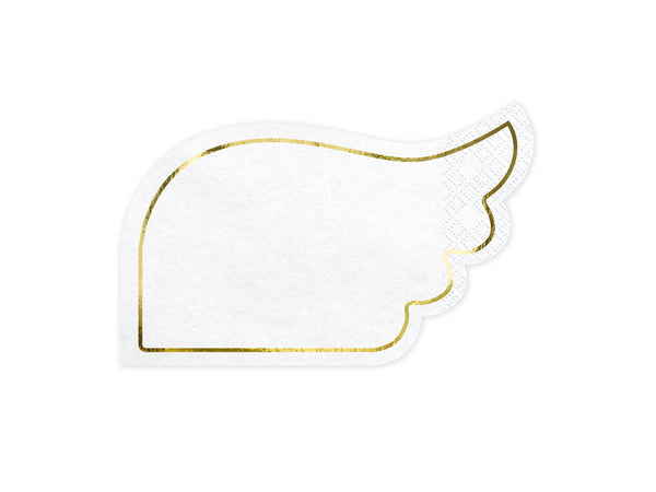 White Angel Wing Paper Cocktail Napkins