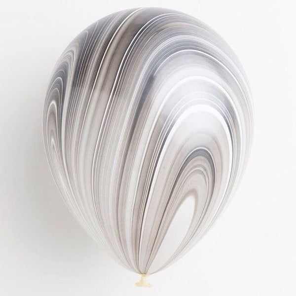 Black + White Marble Swirl Balloon