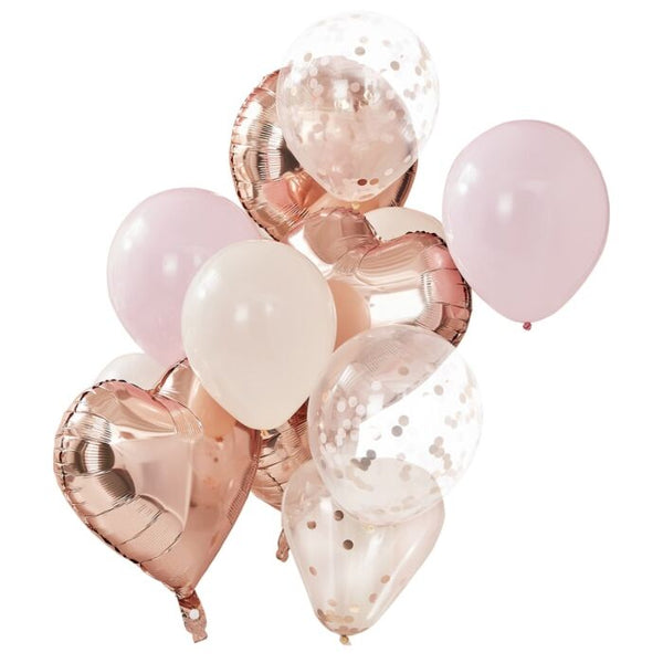 Blush + Rose Gold Balloon Bundle