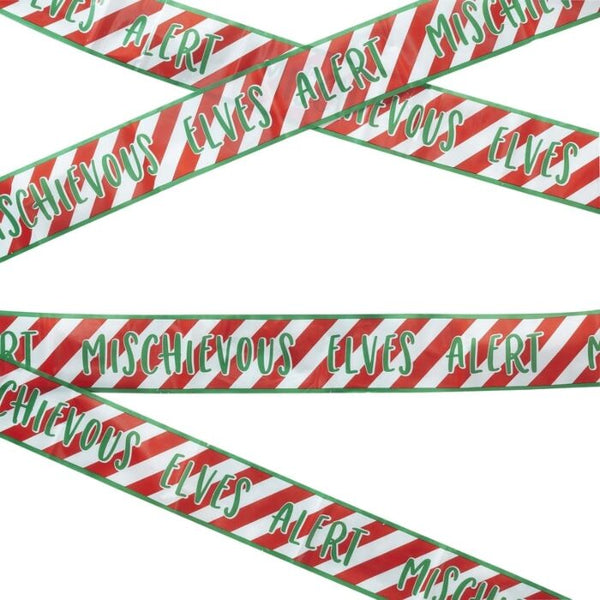 Novelty Christmas Elf Caution Tape