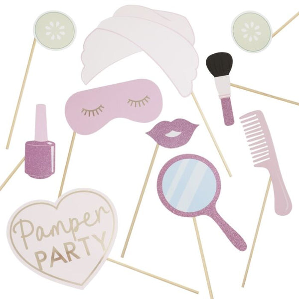 Pamper Party Photo Booth Props
