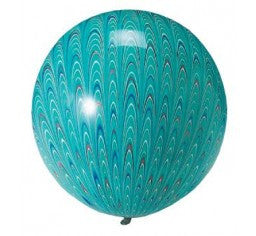 Peacock Green Round Balloon