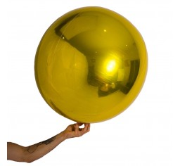 Gold 60cm Shiny Foil Balloon Ball