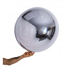 Silver 60cm Shiny Foil Balloon Ball