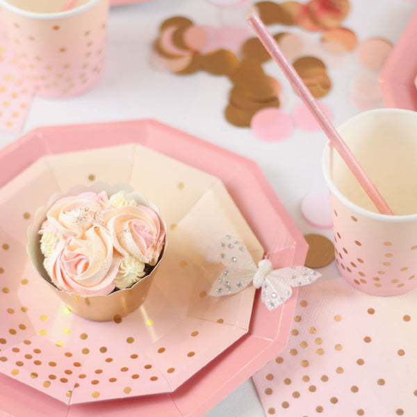 Pink + Peach Cocktail Napkins