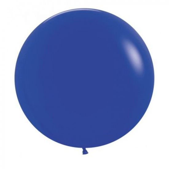 60cm Round Balloon - Royal Blue