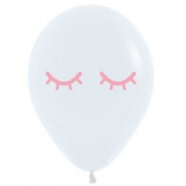 30cm Sleey Eye White Balloon