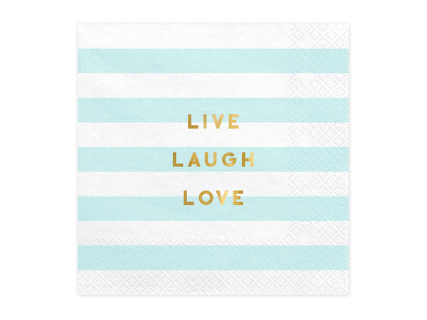 'LIVE LOVE LAUGH' Paper Napkins