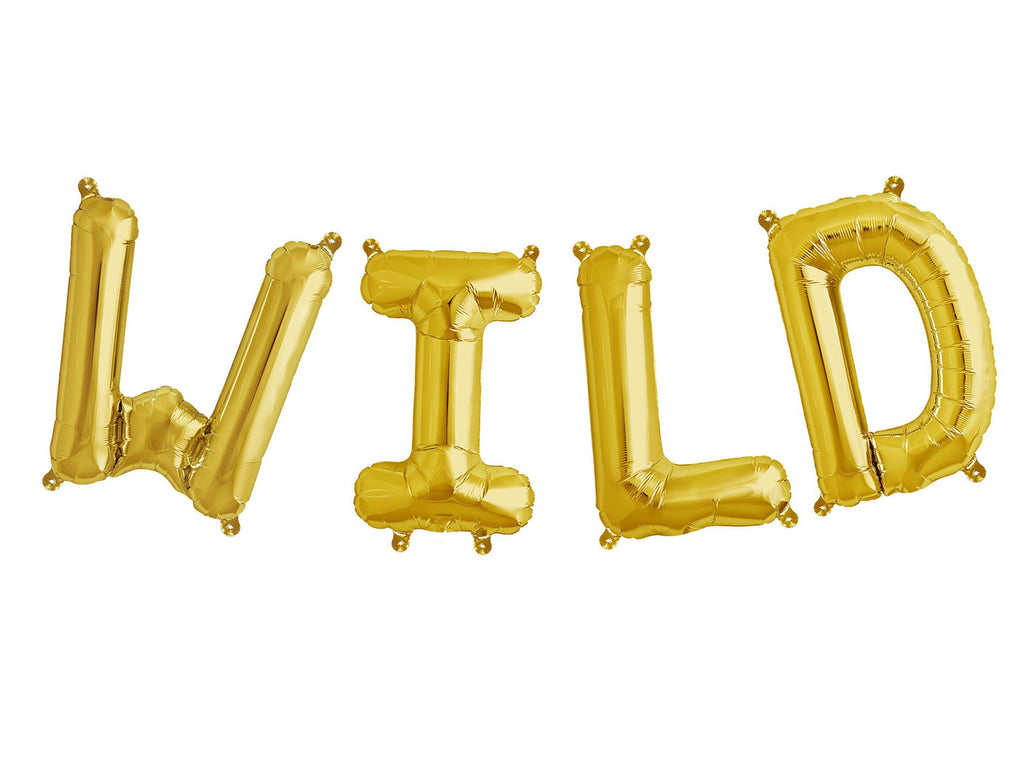 Foil Gold 'Wild' Balloon