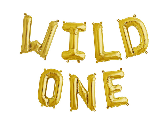Foil Gold 'Wild One' Balloon