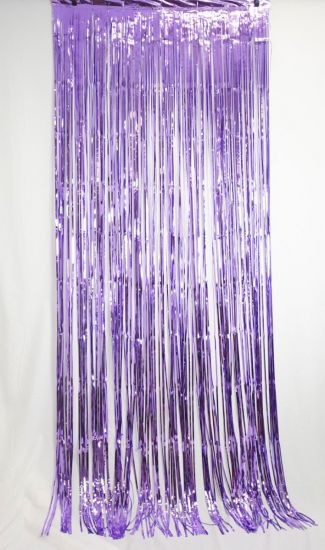 Lavender Fringe Curtain Backdrop