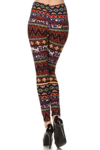 Always African Safari Color Inspired Slim Fit Leggings - Quality Legging Fashion