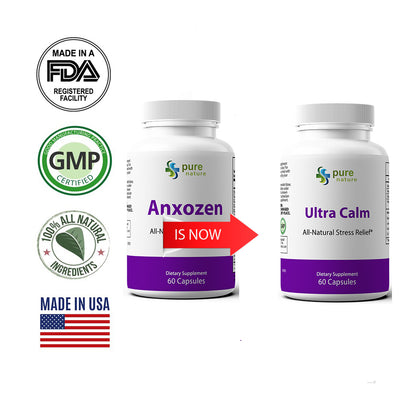 Anxozen (now Ultra Calm) - Natural Anti-Anxiety Formula
