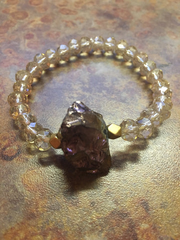 Brown Quartz Crystal Bracelet