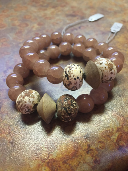Latte Bracelet with Earth Beads