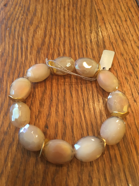 Crystal Oval Bracelet- Blush