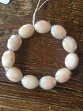 Oval Cream Crystal Bracelet