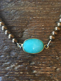 Turquoise & Brown Choker