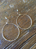 Medium Gold Hoops with Tiny Texture Beads