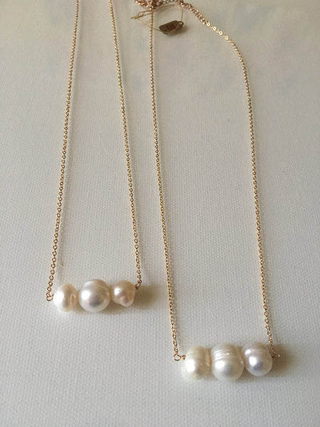 Triple Freshwater Pearl Necklace