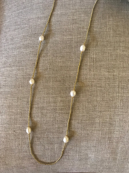 Easy Breezy Gold & Freshwater Pearl Necklace