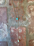 Layered Amazonite Y Necklace