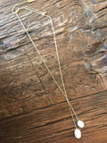 Mid-Length Freshwater Pearl Lariat Necklace