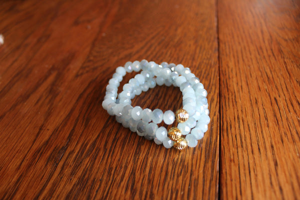 Simple Crystal Bracelet- Icy Blue