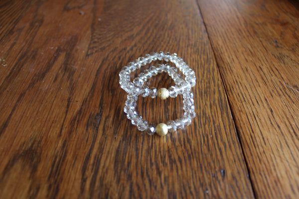 Simple Crystal Bracelet- Clear