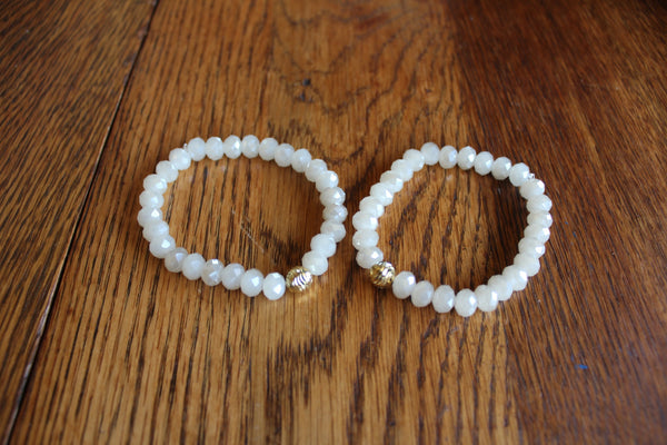Simple Crystal Bracelet- Cloud