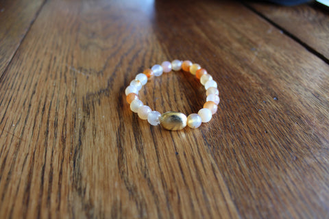 Simple Agate Bracelet- Peach