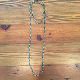 6mm Knotted Wrap Necklace- Dalmatian Jasper