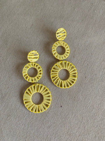The Resort Earrings-Yellow