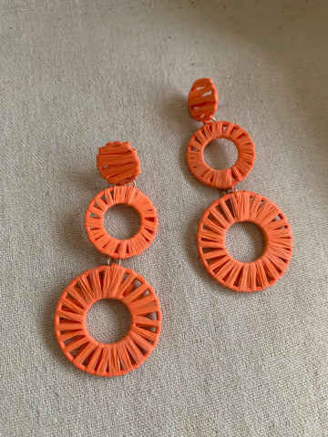 The Resort Earrings- Orange
