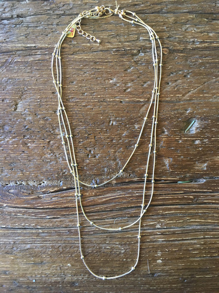 Dotted Liquid Gold Layered Necklace