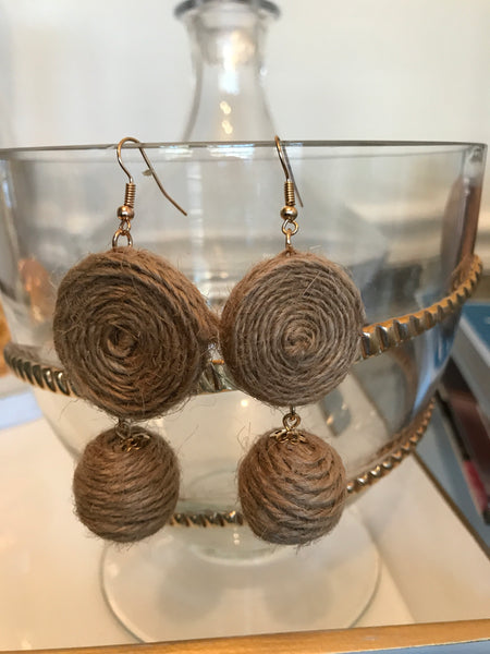 Tweed Bauble Earrings