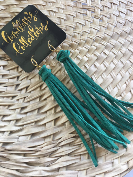 Suede Tassel Earrings- Palm